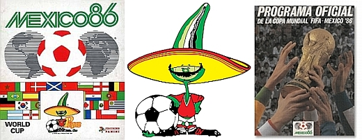A montage of memorabilia from Mexico 86