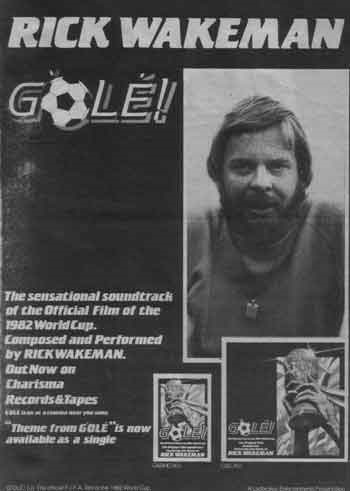 Rick Wakeman - G'Olé - The Official Film Of The 1982 World Cup - The Original Film Soundtrack
