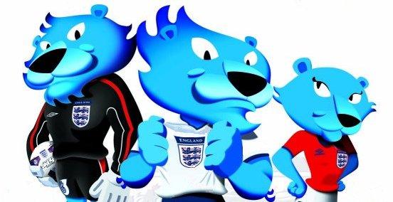 England 3 Lion Mascots