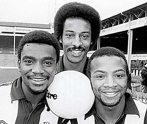 Laurie Cunningham, Brendon Batson and Cyril Regis