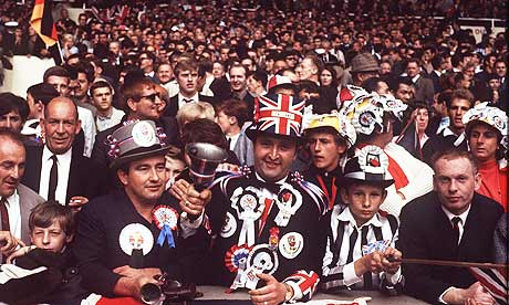England World Cup fans back in the day